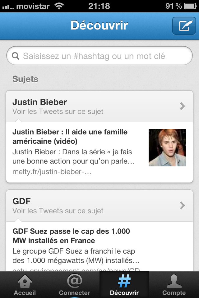 Tendances Twitter Iphone