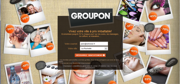 Squeeze Page Groupon